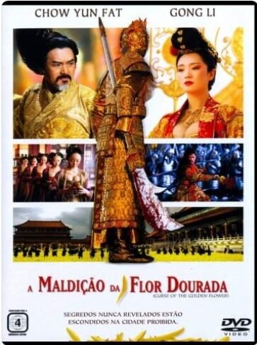 A MALDIÇÃO DA FLOR DOURADA - DVD