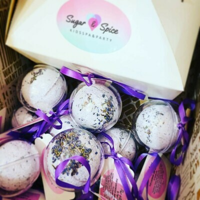 Pure Lavender Mint Bath Bomb SENSATIVE SKIN TYPES
