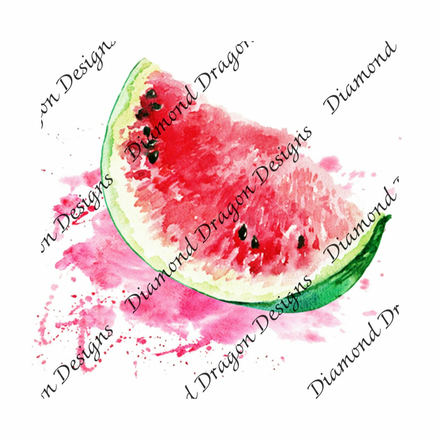 Watermelon - Summer, Summer time, Watermelon Slice, Watercolor, Waterslide