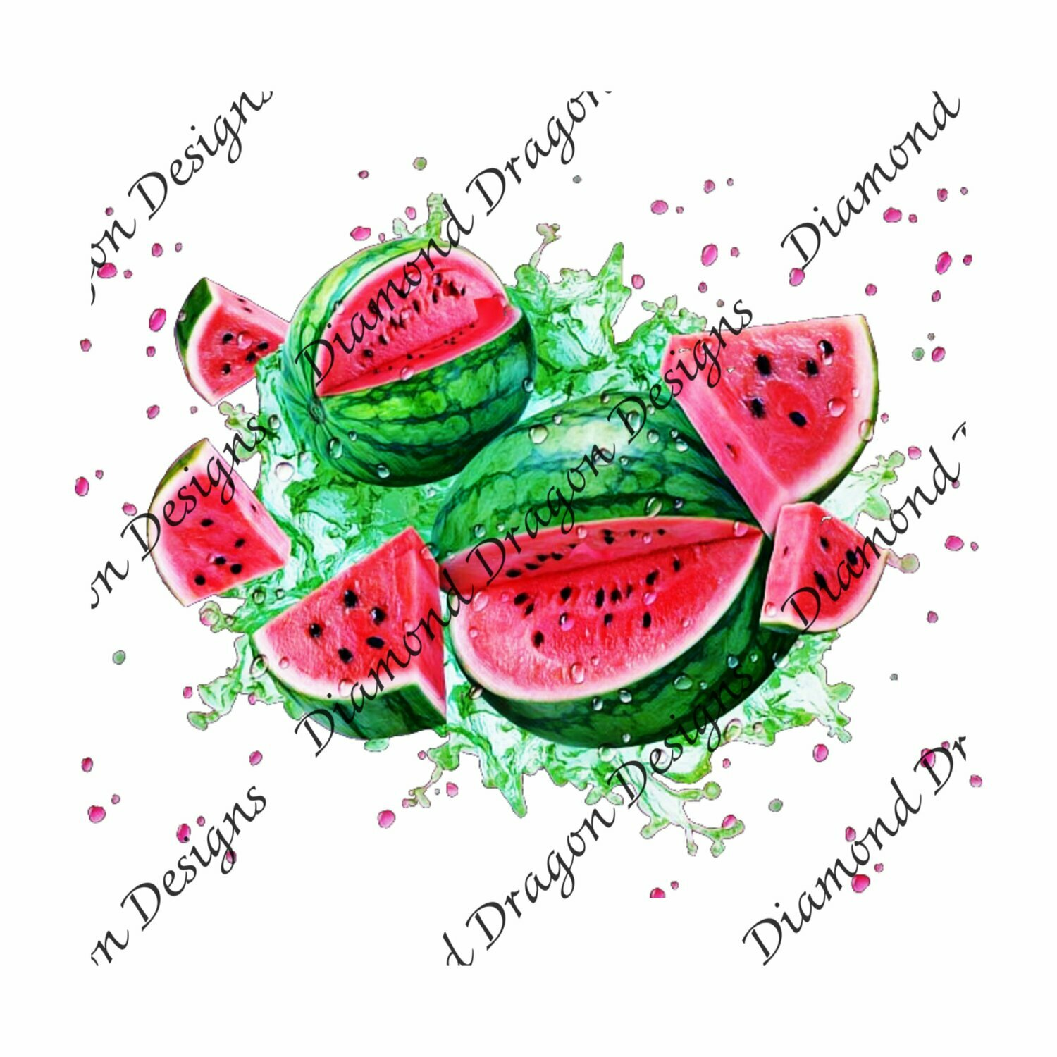 Watermelon - Summer, Summer time, Watermelon Watercolor, Waterslide