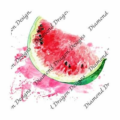 Watermelon - Summer, Summer time, Watermelon Slice, Watercolor, Waterslide