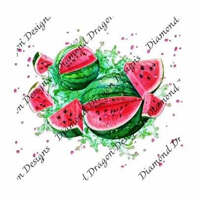 Watermelon - Summer, Summer time, Watermelon Watercolor, Waterslide