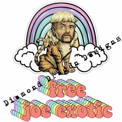 Popular Icons - Tiger King, Joe Exotic, Free Joe Exotic, Rainbow, Waterslide
