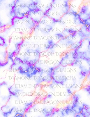 Full Page -  Purple Gold Marble, Full Page Design - Waterslide