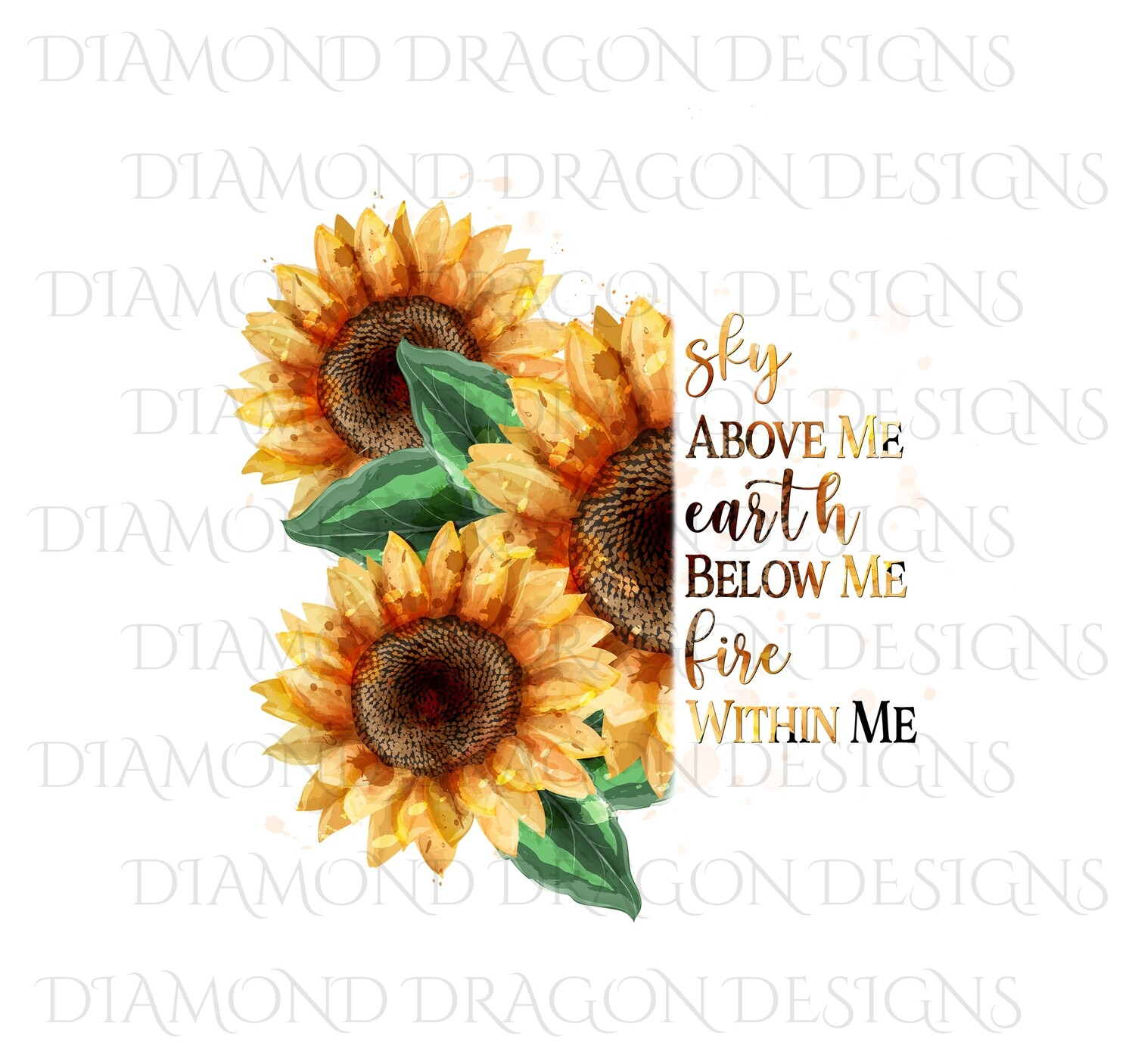 Sunflowers - Sunflower Bunch Quote, Waterslide