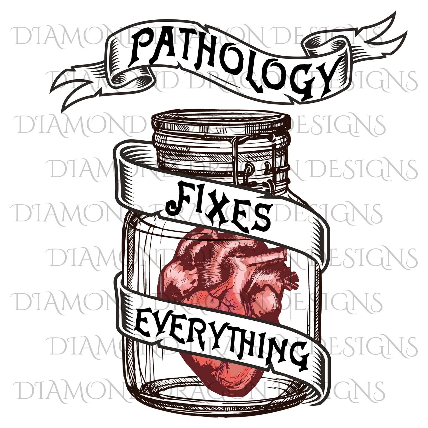 Medical - Jar with Heart, Pathology, Waterslide