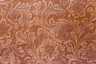 Full Page - Tooled Leather, Floral, Full Page Design - Waterslide