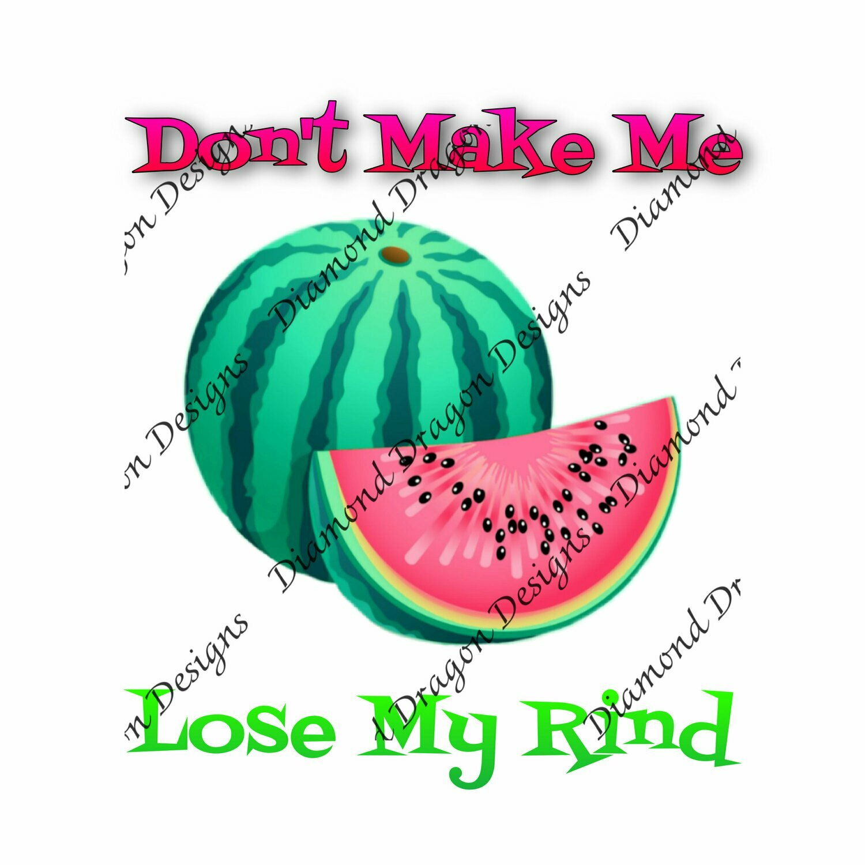 Watermelon - Summer, Don't Make me Lose My Rind, Digital Image