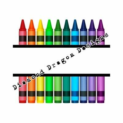 Teachers - Crayon, Teacher, Split Name,  Teacher Appreciation, Digital Image