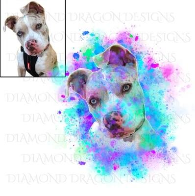 Custom Image - Watercolor YOUR Pet, Digital Image
