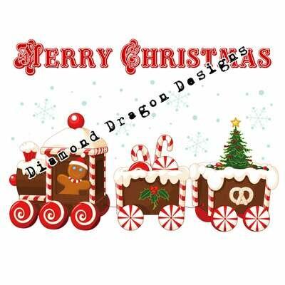Christmas - Gingerbread, Merry Christmas, Gingerbread Train, Digital Image