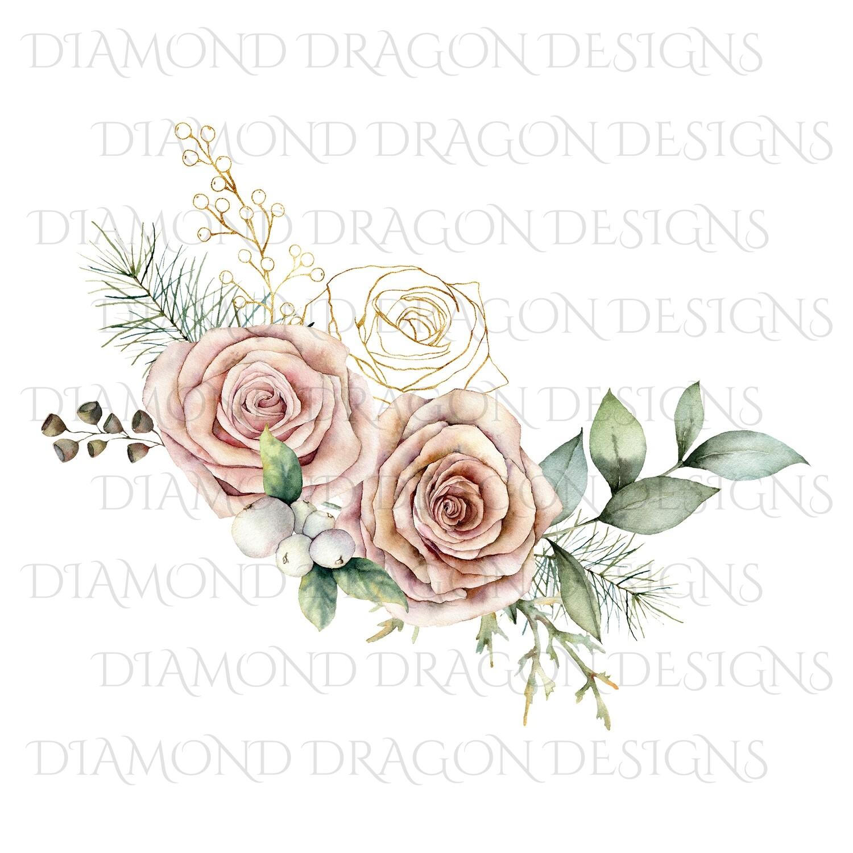 Flowers - Vintage Rose, Digital Image