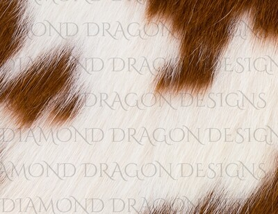 Full Page Design - Cow Hide Image,  White Brown, Digital Image