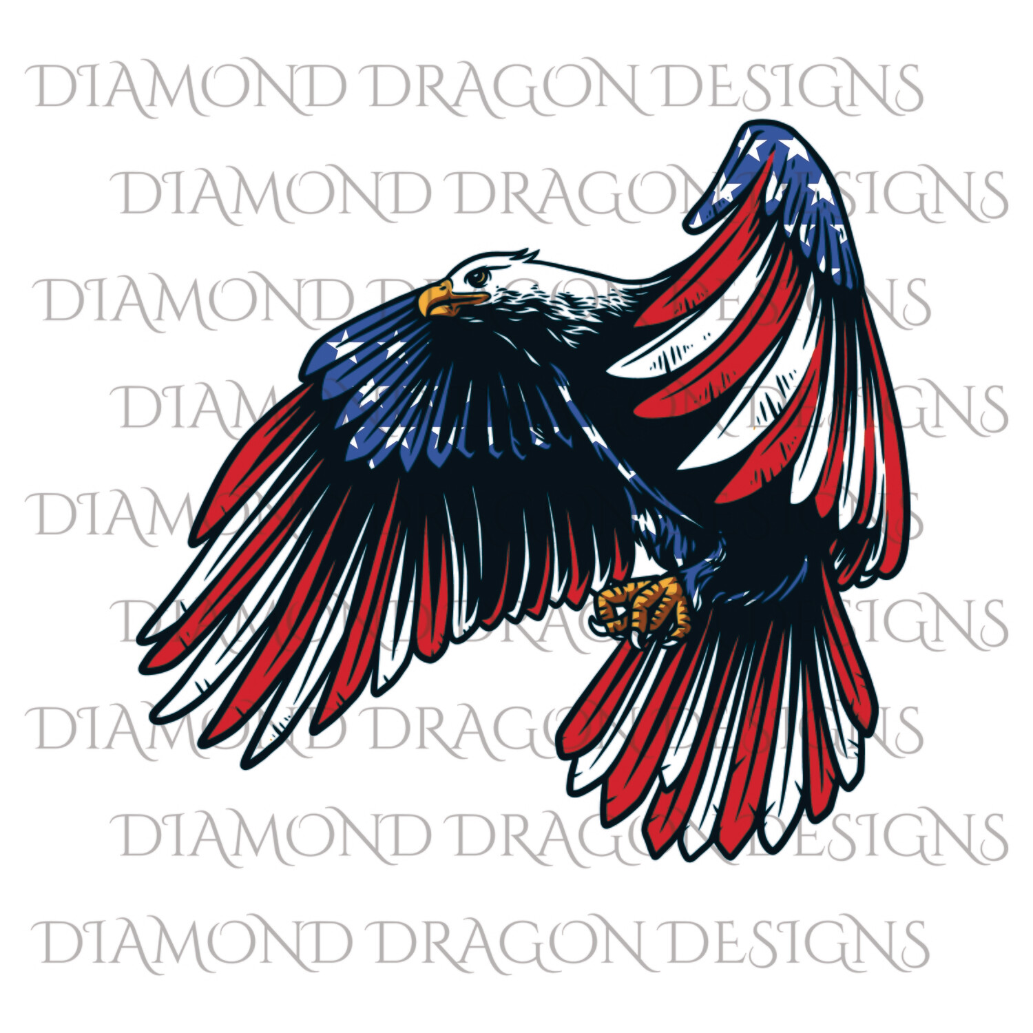 Patriotic - America, Patriotic Eagle, American Flag, 4th of July, USA, Digital Image