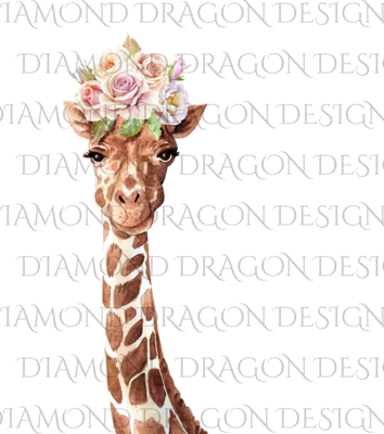 Giraffe - Floral Crown Giraffe