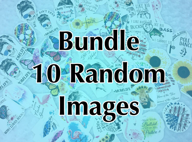 Bundle - 10 Random, Laser Printed Images, Discount Bundle, Waterslide