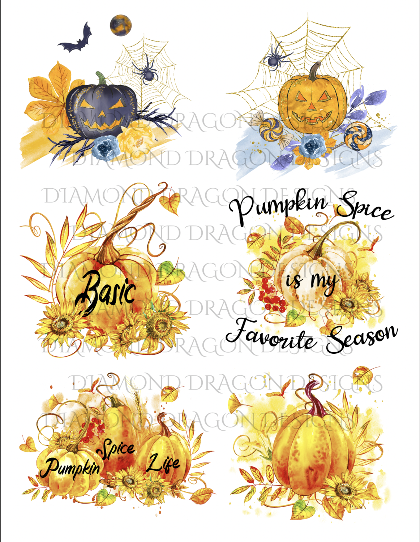 Halloween - Fall, Pumpkins, 6 Image Bundle, Waterslides