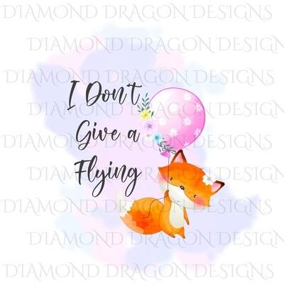 Animals - Cute Fox, I Don't Give a Flying Fox, Digital Image