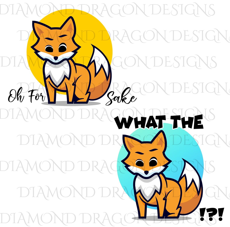Animals - Sassy Fox 2 Image Bundle, What the Fox, For Fox Sake, Digital Image