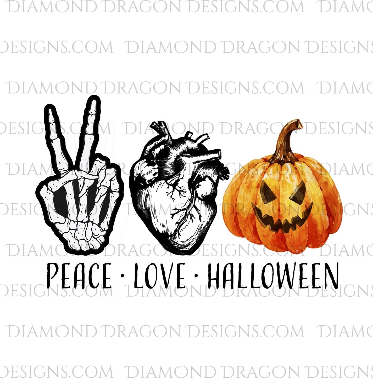 Halloween - Peace Love Halloween, Digital Image
