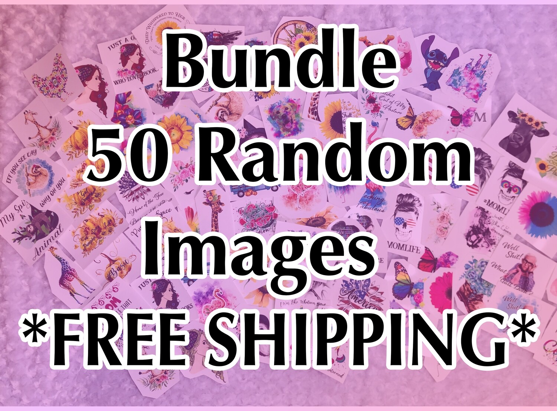 Bundle - 50 Random, Laser Printed Images, Discount Bundle - FREE SHIPPING