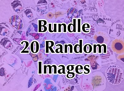 Bundle - 20 Random, Laser Printed Images, Discount Bundle