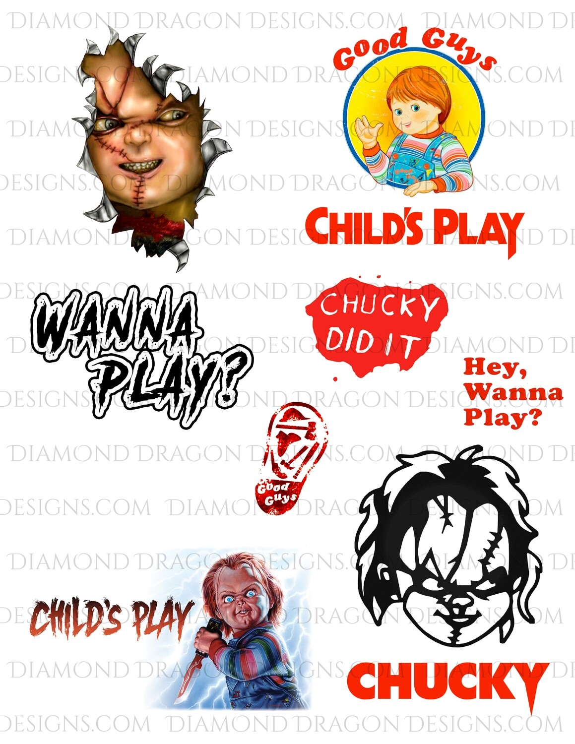 Halloween - Child's Play Movie, Chucky, Full Page, Digital Image