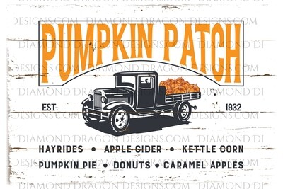 Halloween - Pumpkin Patch, Vintage Truck, Waterslide