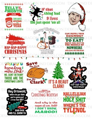 Christmas - National Lampoon's Christmas Vacation, Movie, Collage 2, Full Page, Waterslides