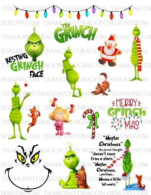 Christmas - The Grinch Inspired, Movie Collage, Full Page, Waterslides