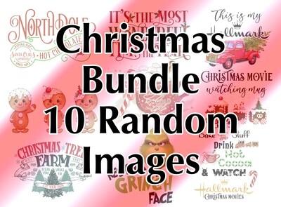 Bundle - 10 Christmas Random, Laser Printed Images, Discount Bundle