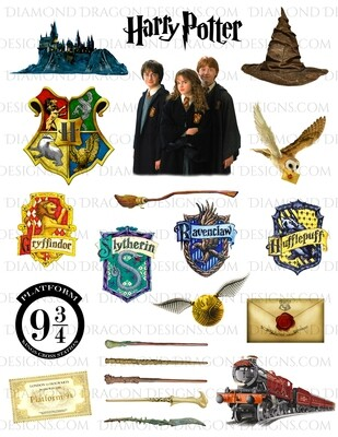 Movies - Potter Movie Inspired, Wizard, Collage 1, Full Page, Digital Image