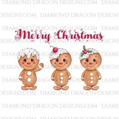 Christmas - Merry Christmas, Cute Gingerbread, Waterslide