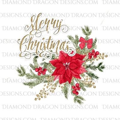 Christmas - Merry Christmas Poinsettia, Waterslide