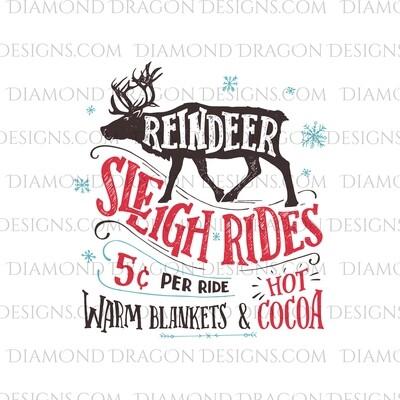 Christmas - Reindeer Sleigh Rides, Waterslide
