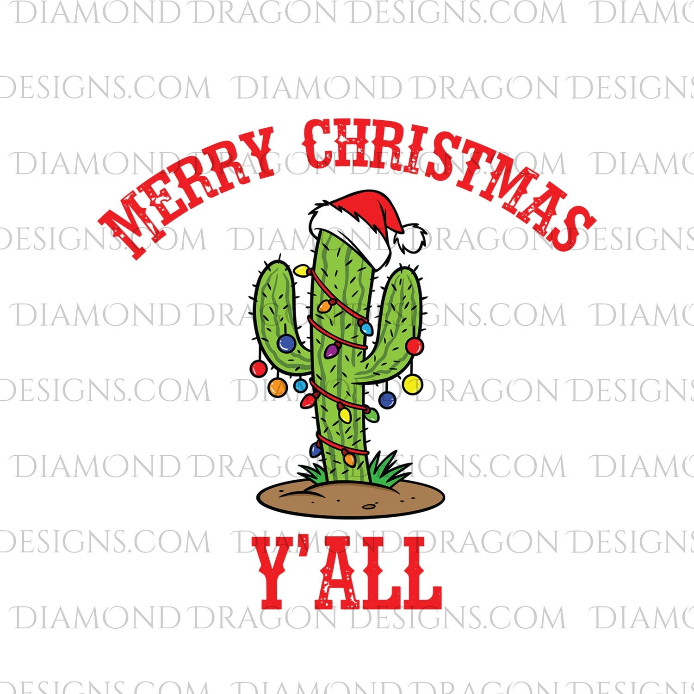 Christmas - Merry Christmas Y'all, Cactus, Waterslide