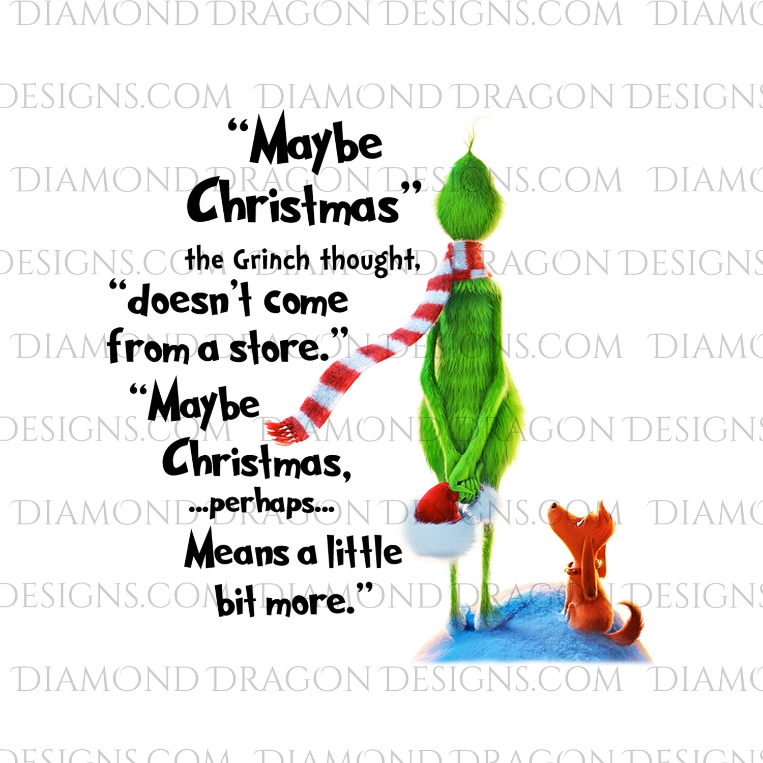 Christmas - Grinch Inspired Quote, Waterslide
