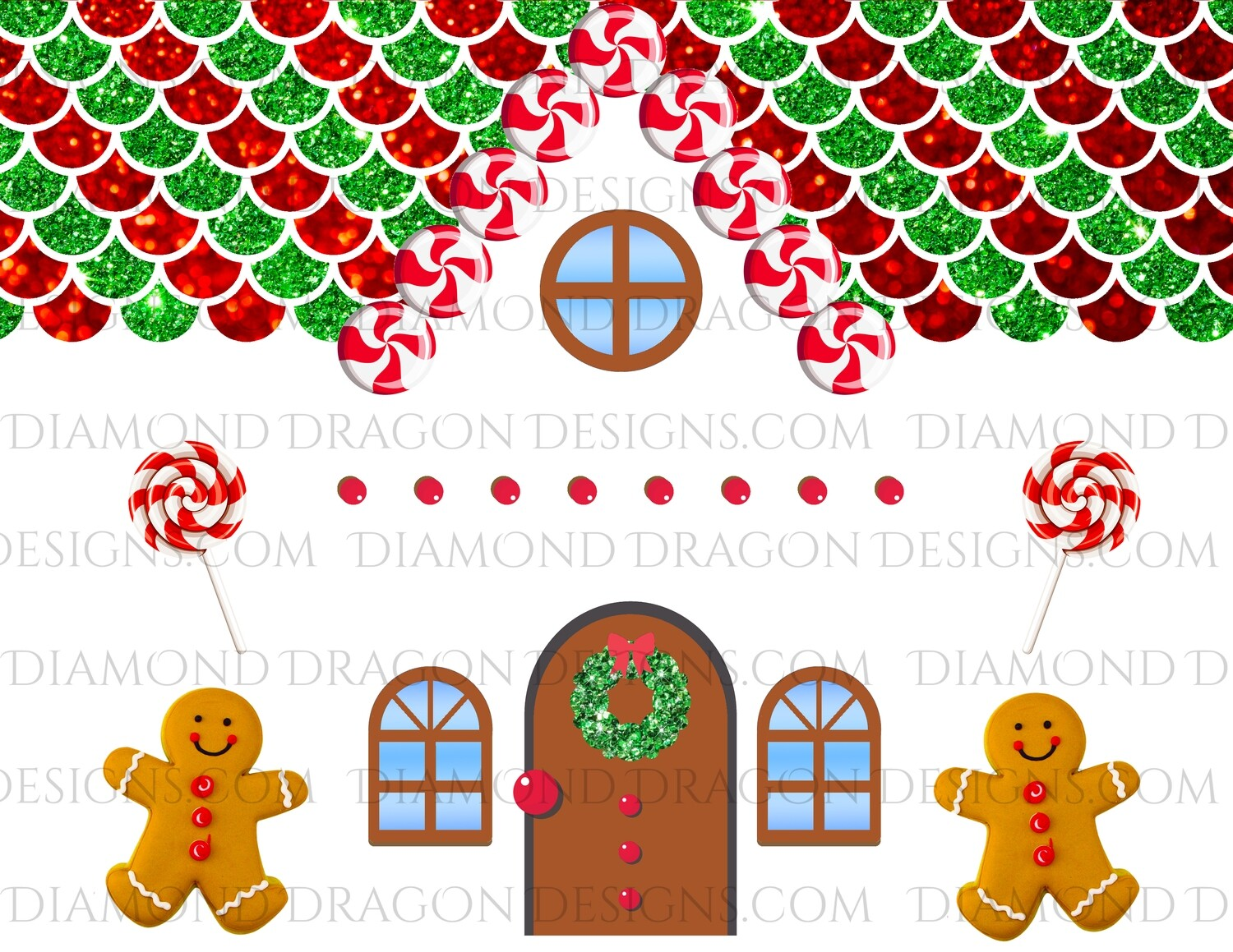 Christmas - Full Page Gingerbread House, Make Your Own Gingerbread Tumbler, Waterslides