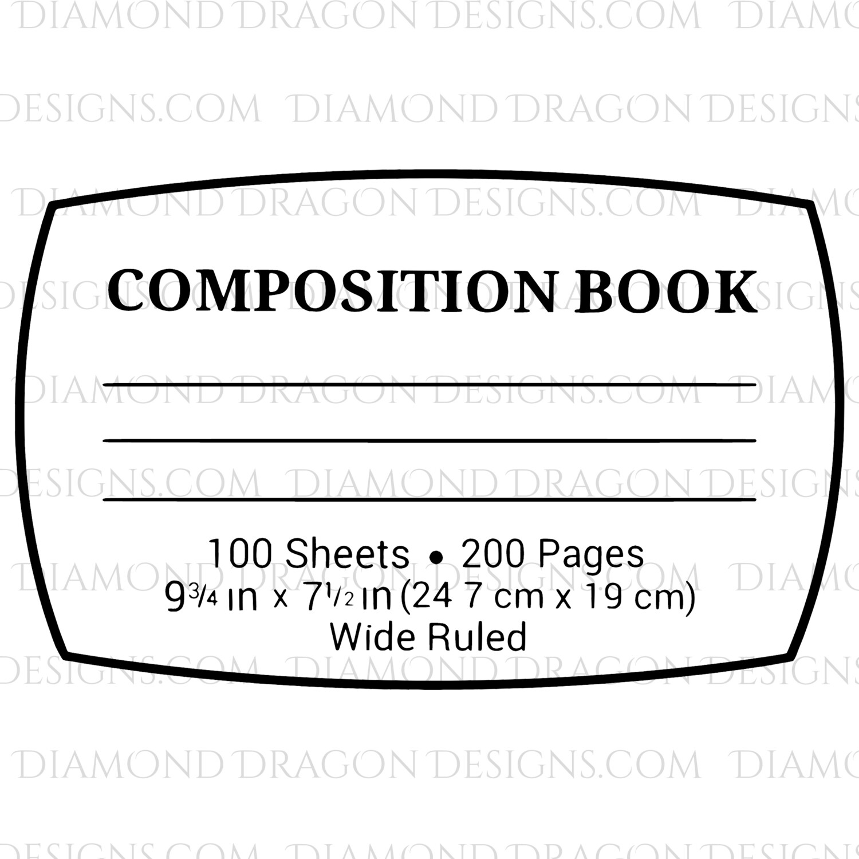 Teachers - Composition Book - WHITE STICKER!