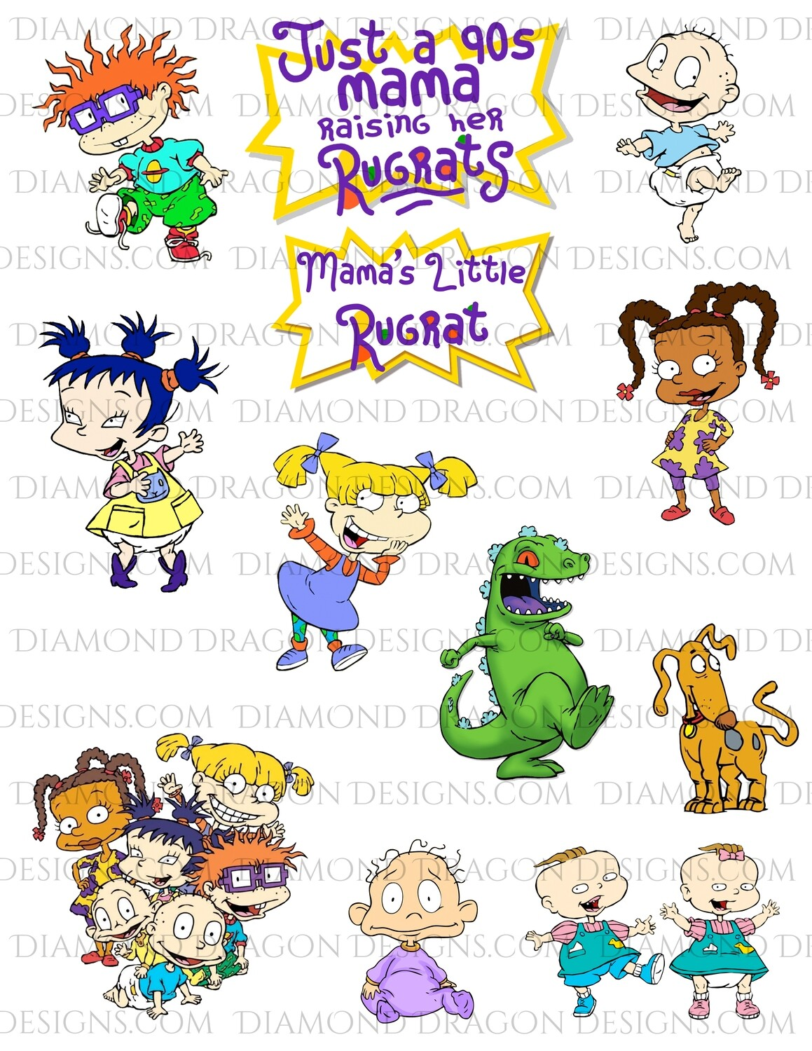 TV - Rugrats Inspired, Collage 2, Full Page, Waterslides