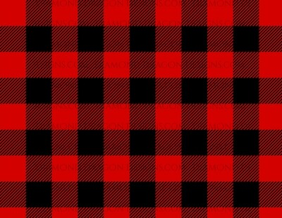 Full Page -  Red Buffalo Plaid, Black and Red, Full Page Design - Waterslide