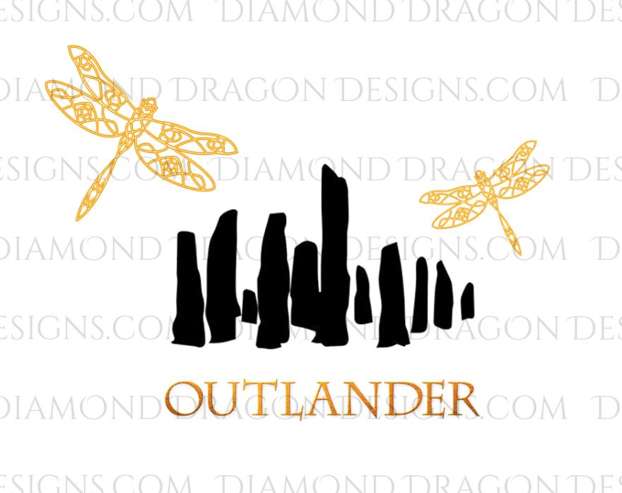 TV Shows - STARZ Outlander Inspired, 3 Image Files, Digital Image