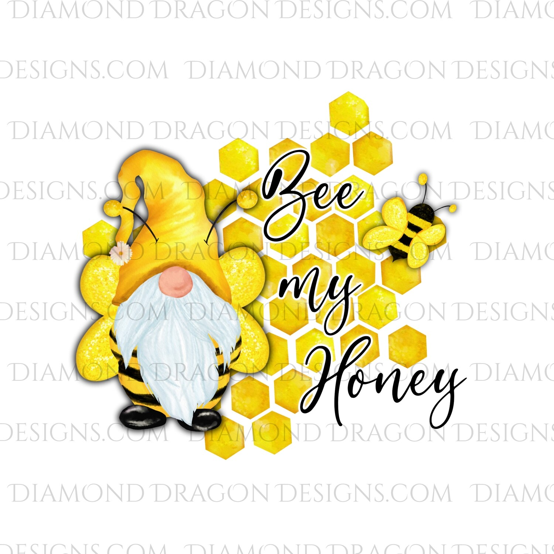 Valentines - Honey Bee Gnome, Bee My Honey, Waterslide