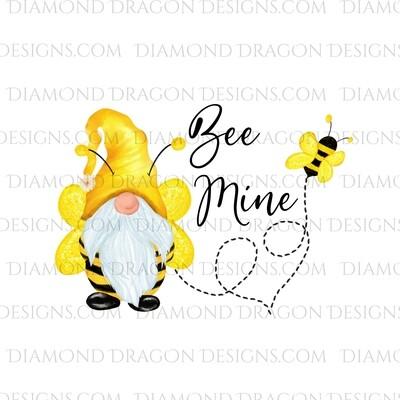 Valentines - Honey Bee Gnome, Bee Mine, Waterslide