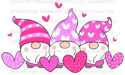 Valentines - Pink Gnomes, Hearts, Waterslide