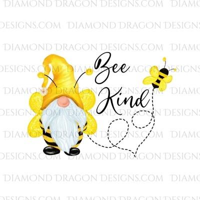 Valentines - Honey Bee Gnome, Bee Kind, Waterslide