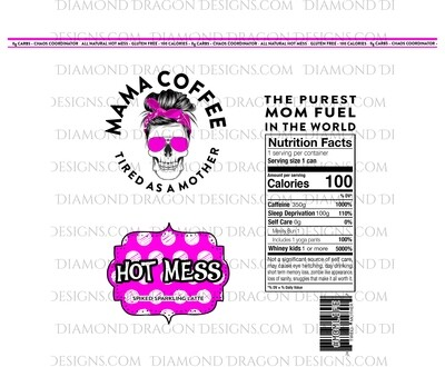 Moms - Mama Coffee, Hot Mess, Waterslide