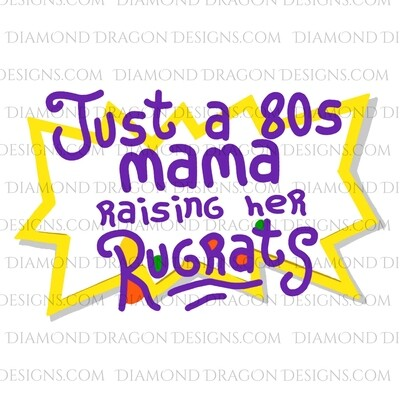 TV - Rugrats Inspired, 80s Mama, Raising Her Rugrats, Waterslides