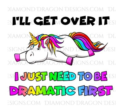 Unicorn - I'll Get Over it, Funny, Quote, Waterslide