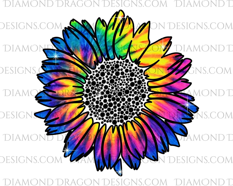 Flowers - Tye Die Sunflower, Waterslide